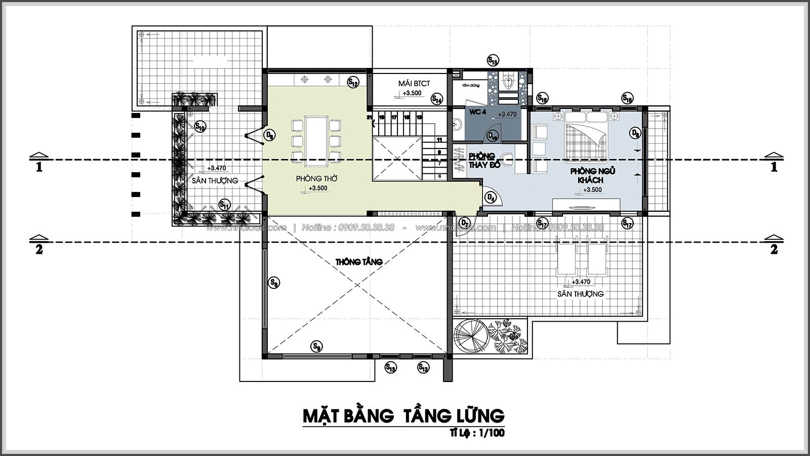 Thiết kế biệt thự nhà vườn 2 tầng phong cách Châu Âu tại Kiên Giang - 3