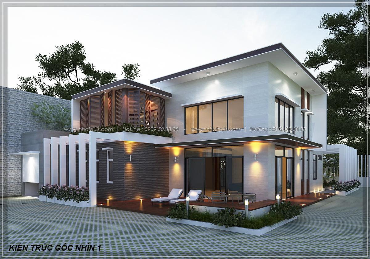 Thiết kế biệt thự vườn 2 tầng phong cách Châu Âu tại Kiên Giang